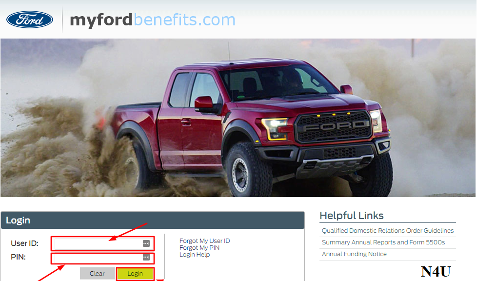 MyFordBenefits login for Retirees
