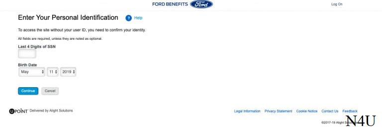Forget User ID and password for Myfordbenefits Retiree Login