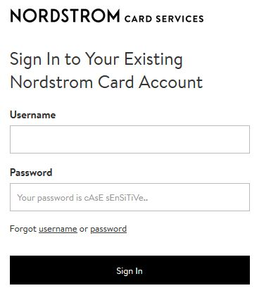 nordstrom credit card login