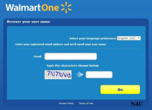 How to recover the walmartone user ID?