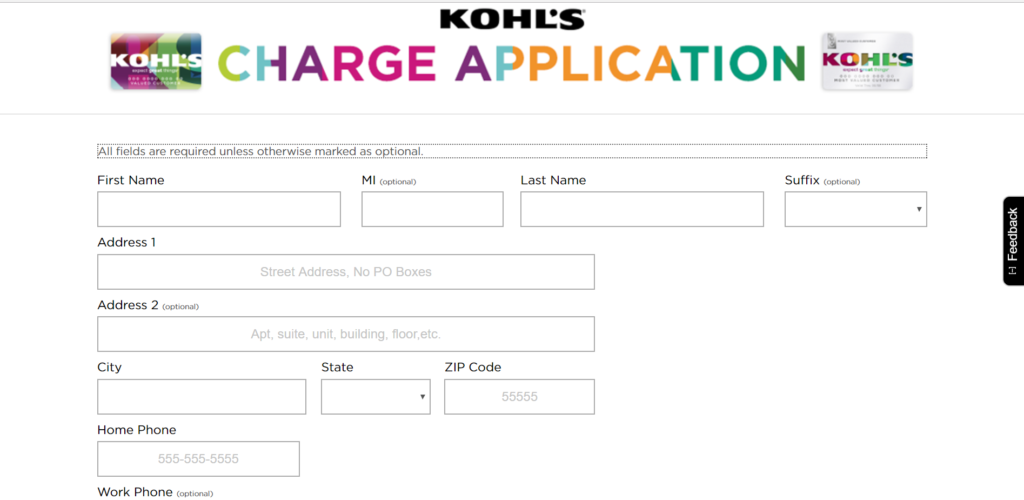 Apply Kohl's Charge Card