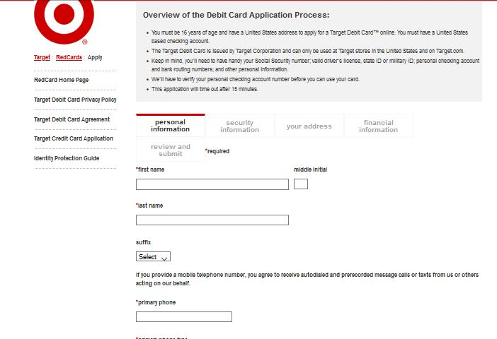 How to apply for Target Redcard Credit Card