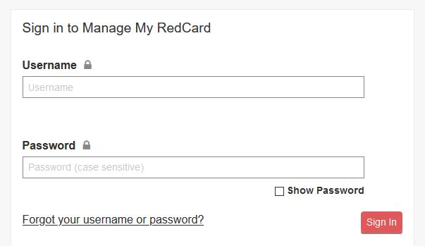 target red card payment login