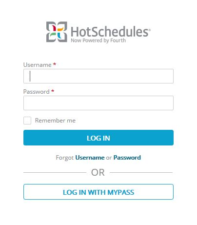 Hotschedules Employee Login