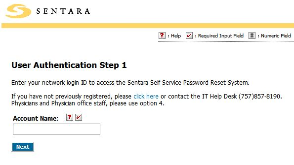 sentara wavenet forgot password