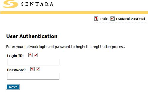 Sentara Wavenet Password Registration