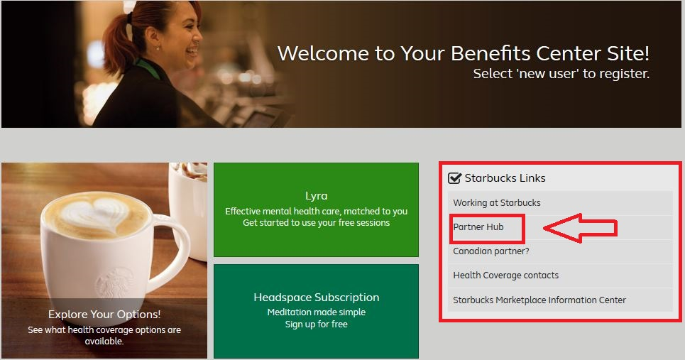Starbucks partner hub login