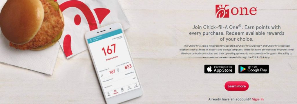 Chick fil a gift card balance mobile app