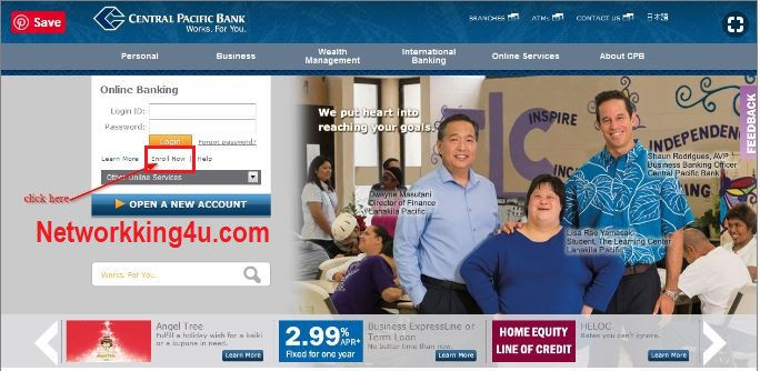 Central pacific bank registration
