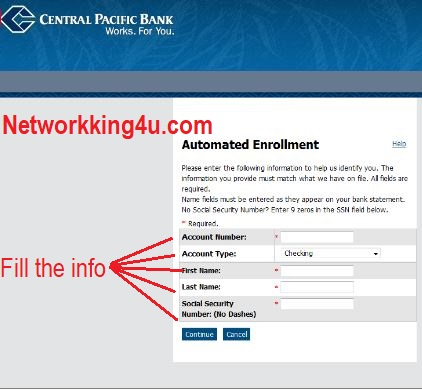 Central pacific bank enrolling