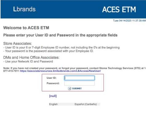 Aces Etm Login Aces Login Aces Limited Brands