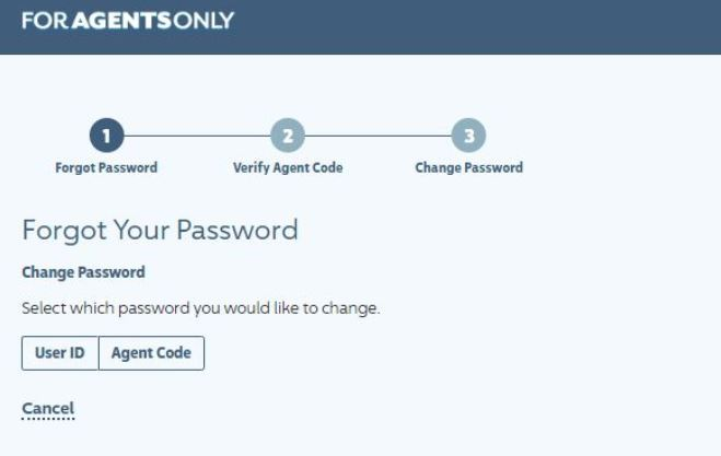 ForAgentsOnly.com forgot password
