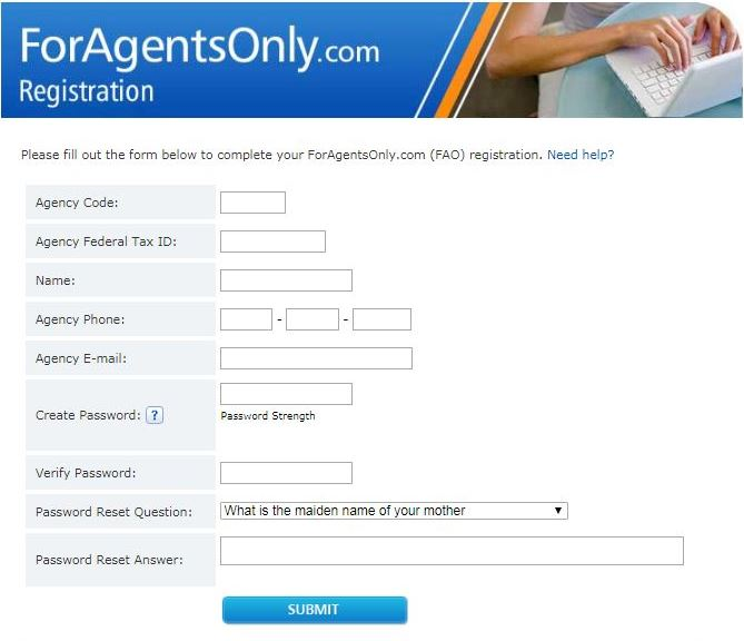 ForAgentsOnly.com Registration