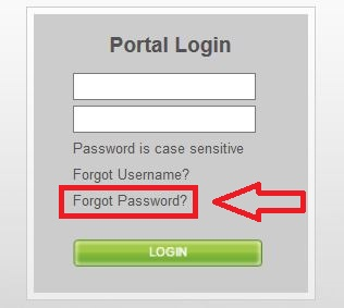 Arise Portal forgot password
