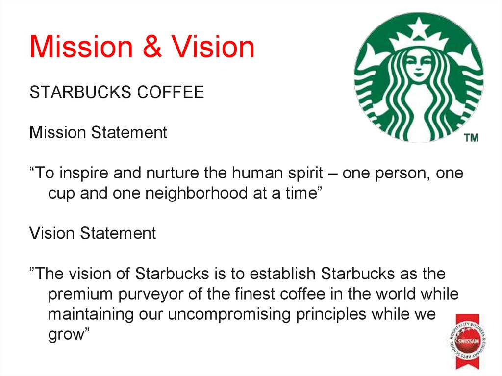 STARBUCKS MISSION STATEMENT